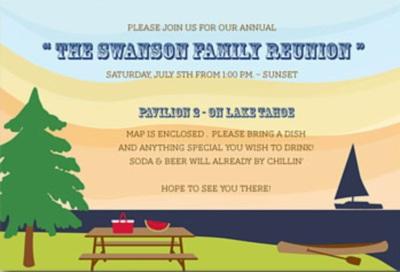 Sample Family Reunion Invitation
