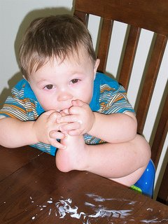 Teaching Table Manners (Need better manners than this!)